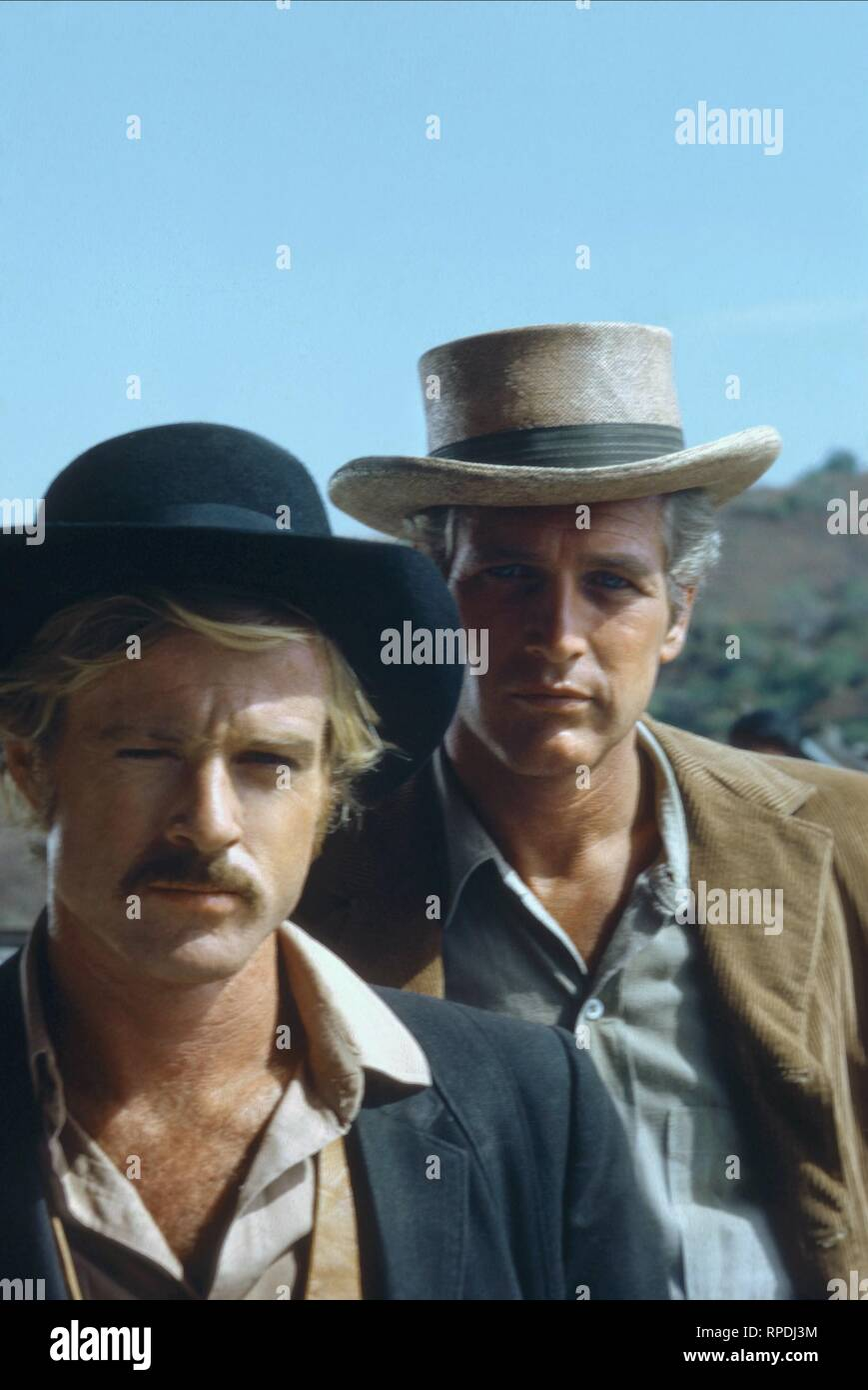 REDFORD,NEWMAN, BUTCH CASSIDY AND THE SUNDANCE KID, 1969 - Stock Image