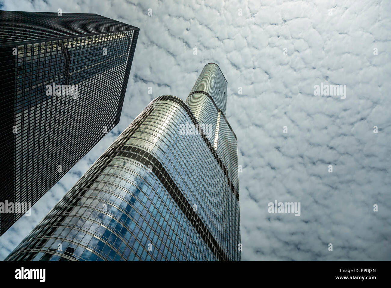 Trump Tower, Chicago, Illinois USA - Stock Image