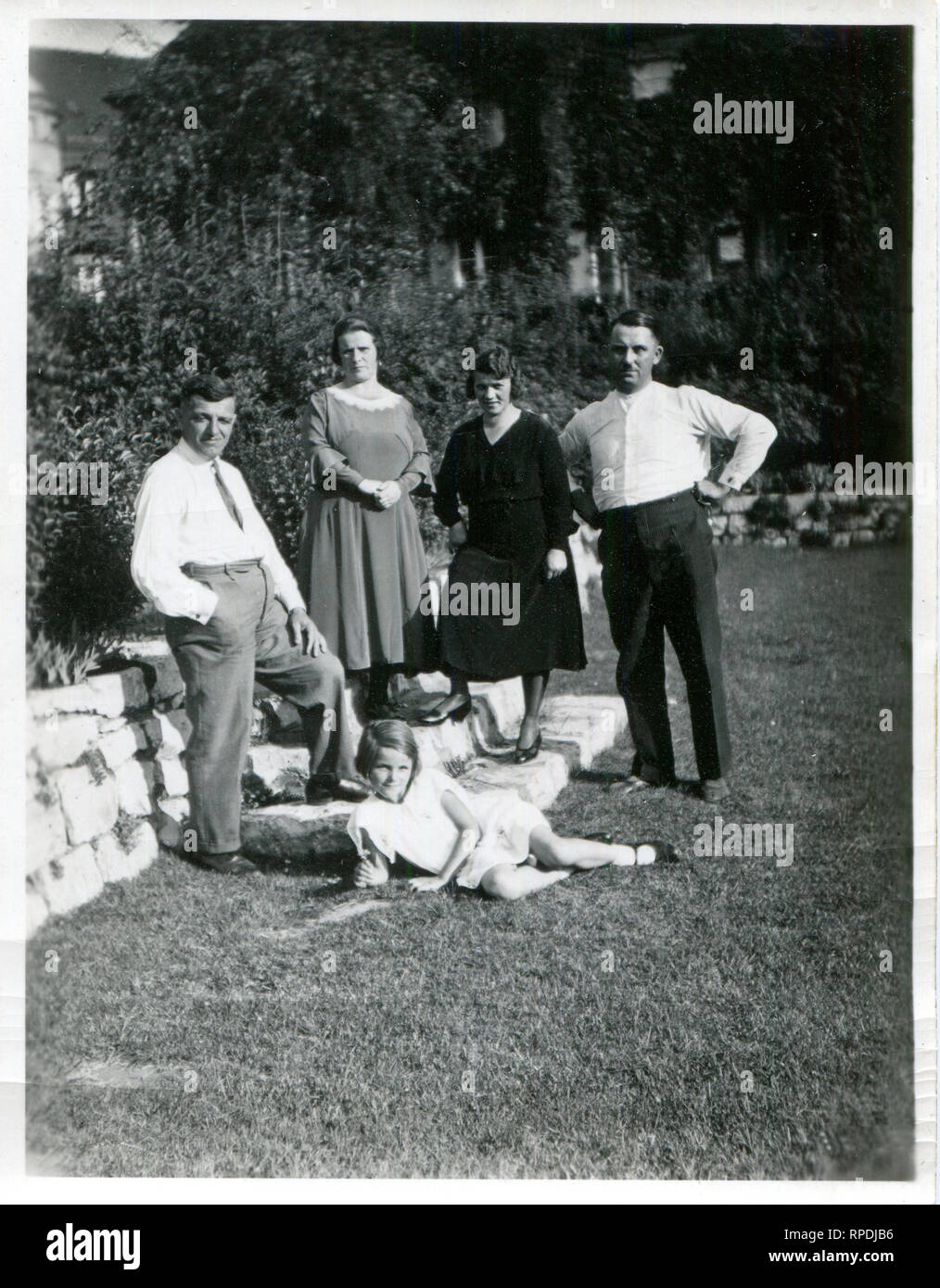 Germany. III Reich. 1938s . A rich German family in the garden of his house. - Stock Image