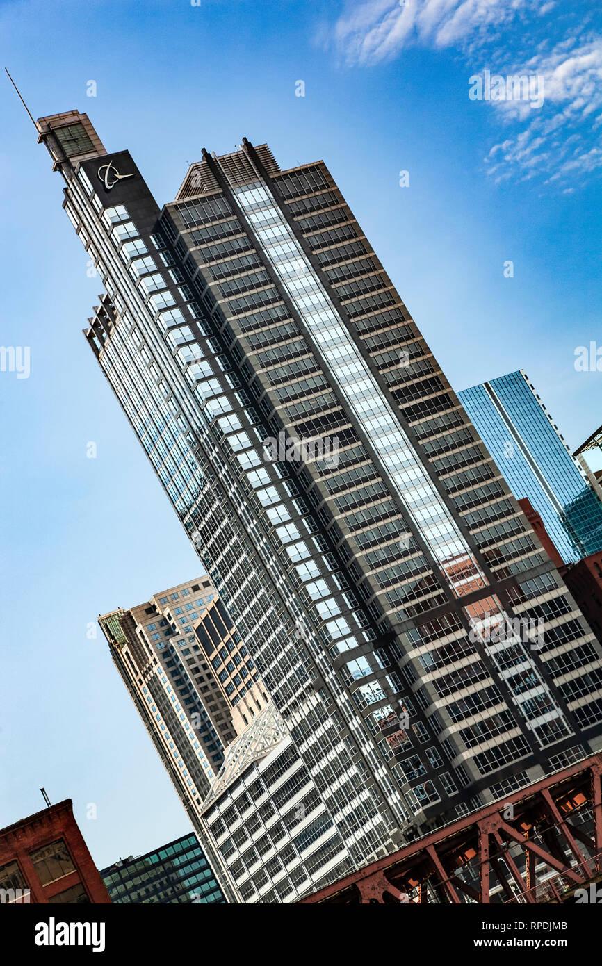 Boeing building, Chicago, Illinois USA - Stock Image