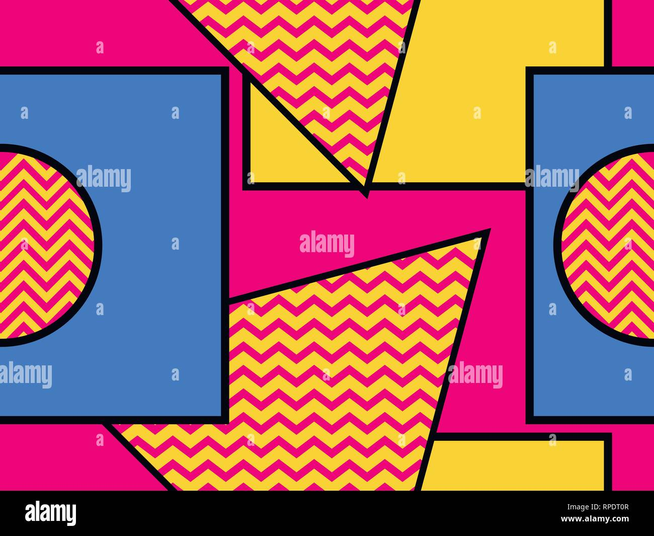 Abstract Shape Art 1980s