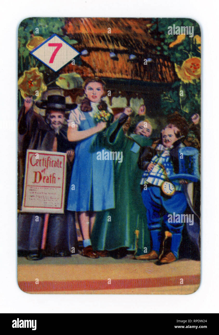 The Wizard of Oz card game produced in London in 1940 by Castell Brothers, Ltd. (Pepys brand) to coincide with the launch of the M.G.M. film in the UK in that year - Stock Image