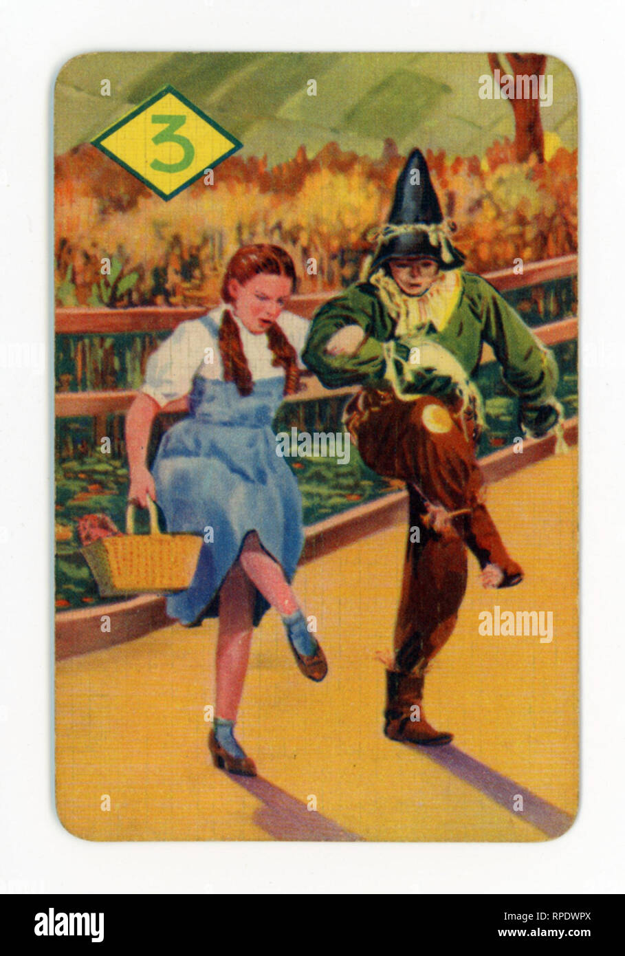 The Wizard of Oz card game produced in London in 1940 by Castell Brothers, Ltd. (Pepys brand) to coincide with the launch of the M.G.M. film in the UK in that year Stock Photo