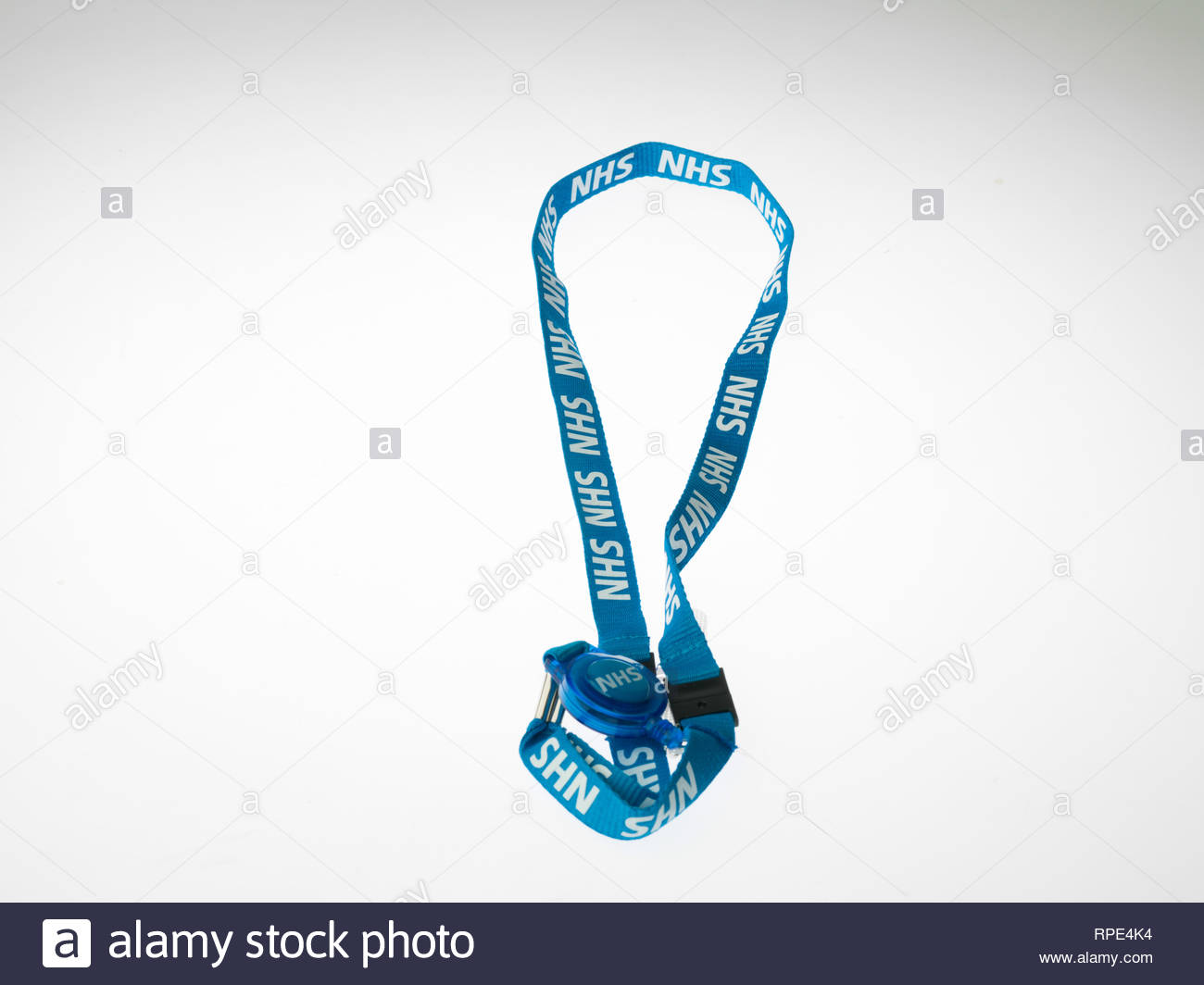 NHS staff employee badge Stock Photo