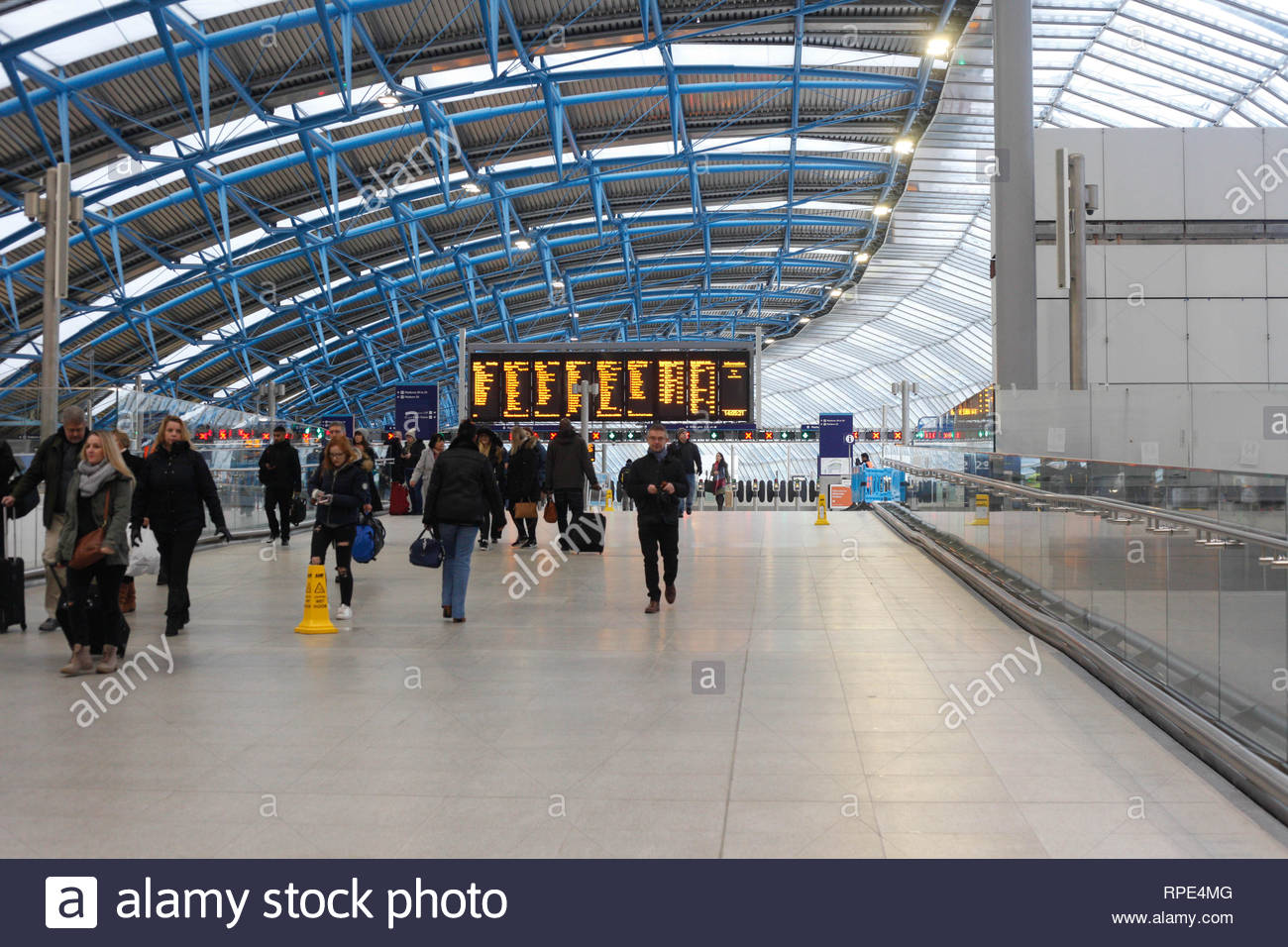 Waterloo station, London, England, UK - Stock Image