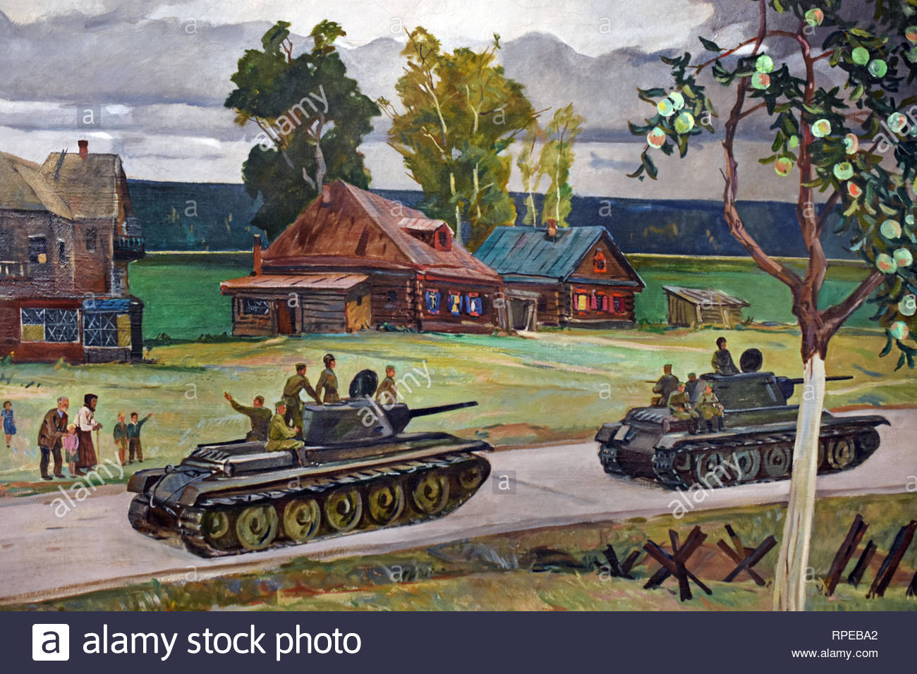 The People in the great patriotic War 1948. Aleksandr Deyneka -Aleksandrovich Deyneka. Soviet Union Communist Propaganda (Russia under Lenin and Stalin 1921-1953 ). - Stock Image