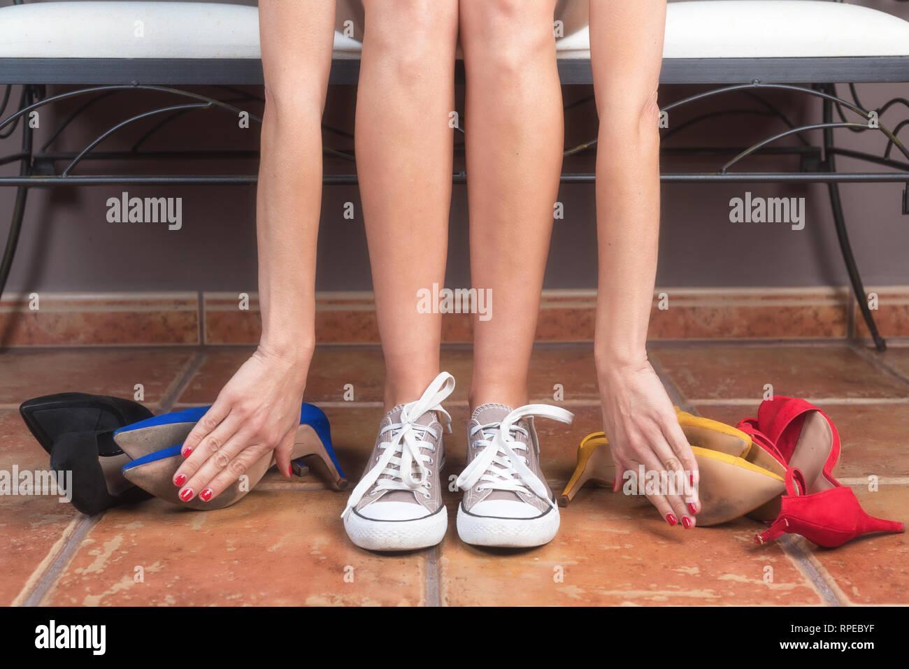 cfb22e3deb8 Woman with perfect slim legs