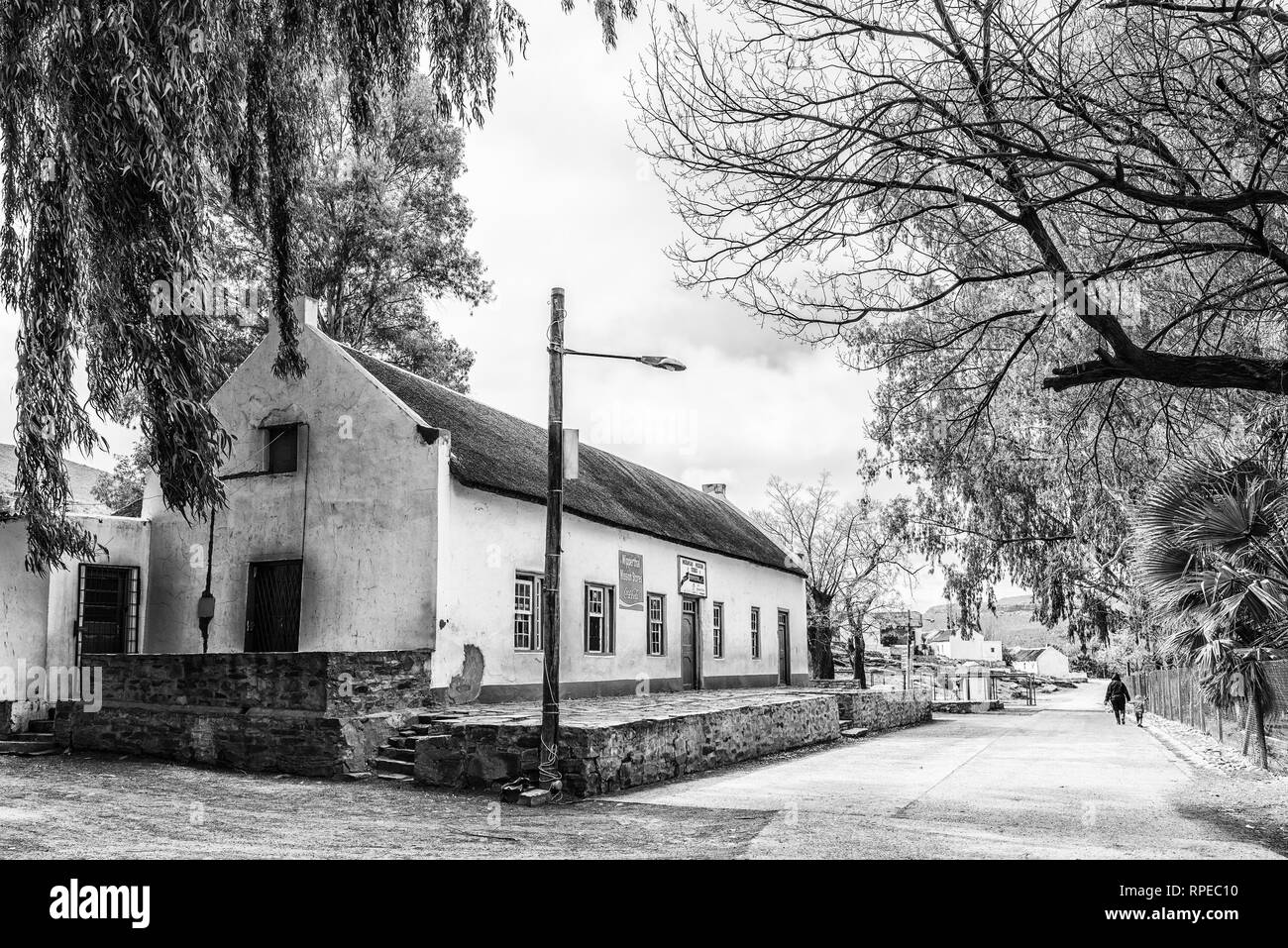 WUPPERTHAL, SOUTH AFRICA, AUGUST 27, 2018: The Moravian Mission Store in Wupperthal in the Cederberg Mountains of the Western Cape Province. People ar - Stock Image