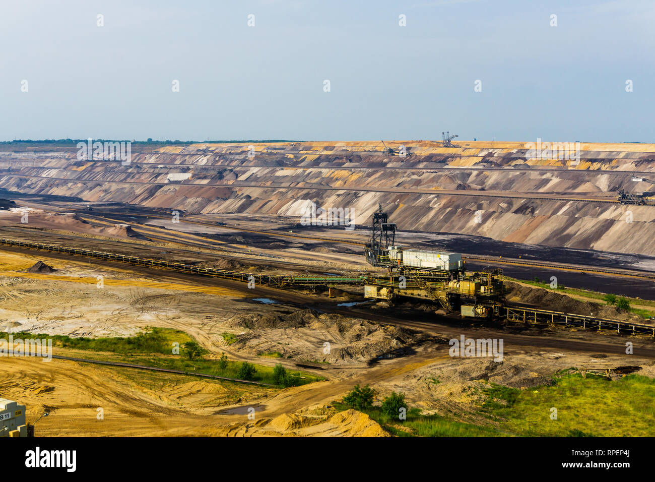 GARZWEILER, GERMANY - 28 May 2017: Brown coal mine at Garzweiler - Stock Image