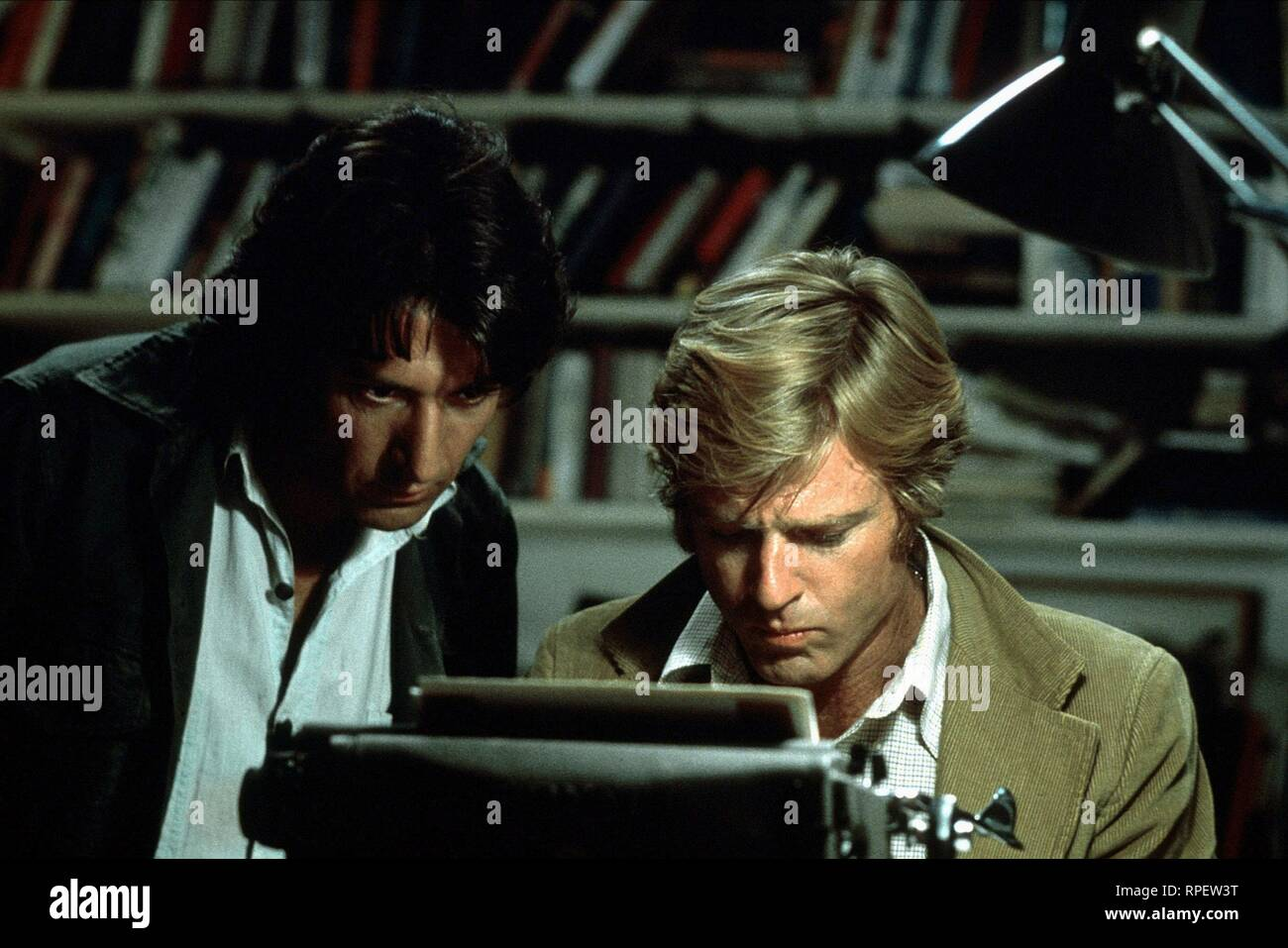 ALL THE PRESIDENT'S MEN, DUSTIN HOFFMAN, ROBERT REDFORD, 1976 - Stock Image