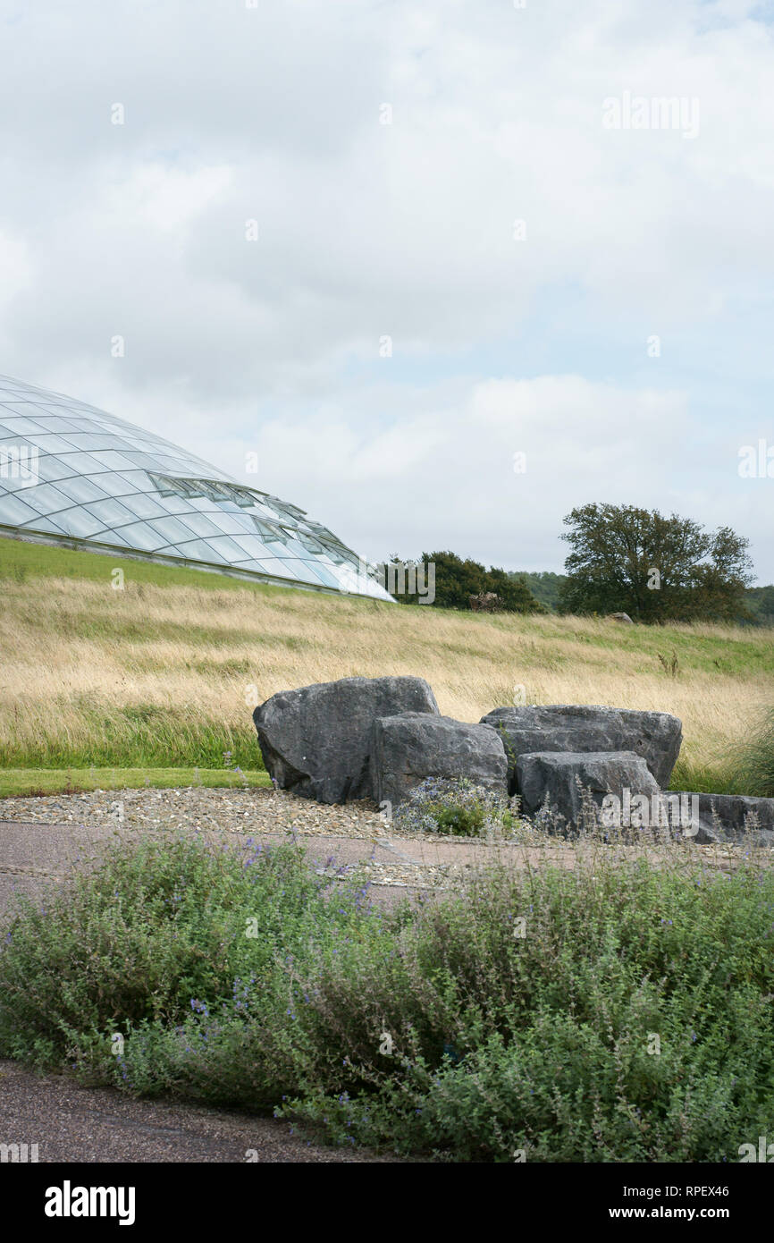 Great glasshouse at the National Botanic Garden of Wales - Stock Image