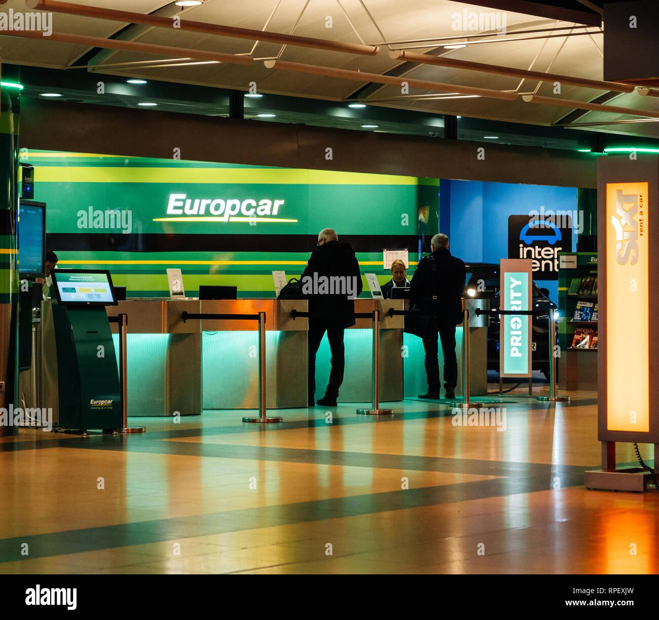airport car rental desk stock photos airport car rental. Black Bedroom Furniture Sets. Home Design Ideas