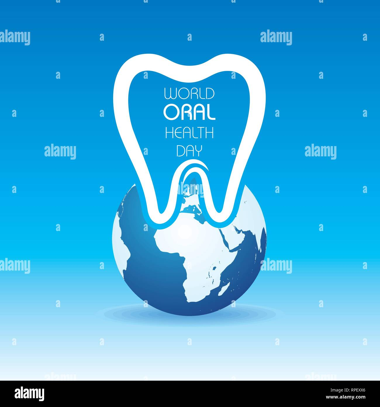 World Oral Health Day design, 20 March ,vector illustration - Stock Vector