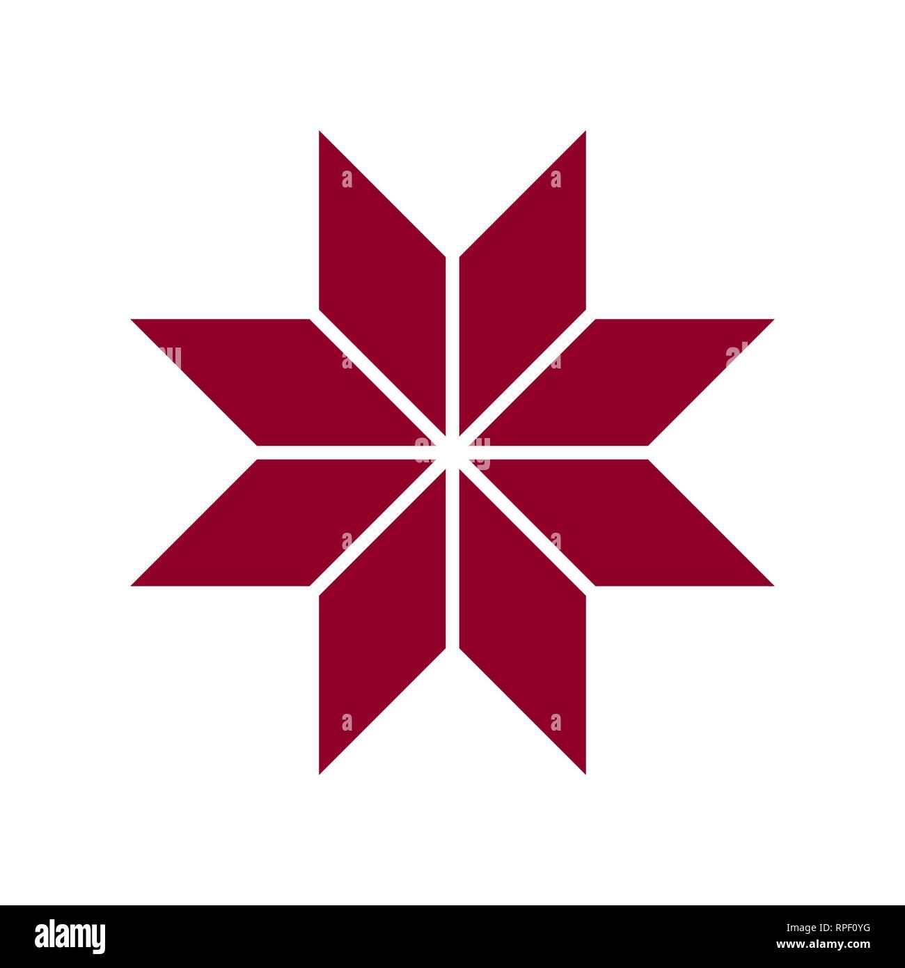 Ethnic Baltic Latvian Cross Ornamental Symbol Vector Illustration
