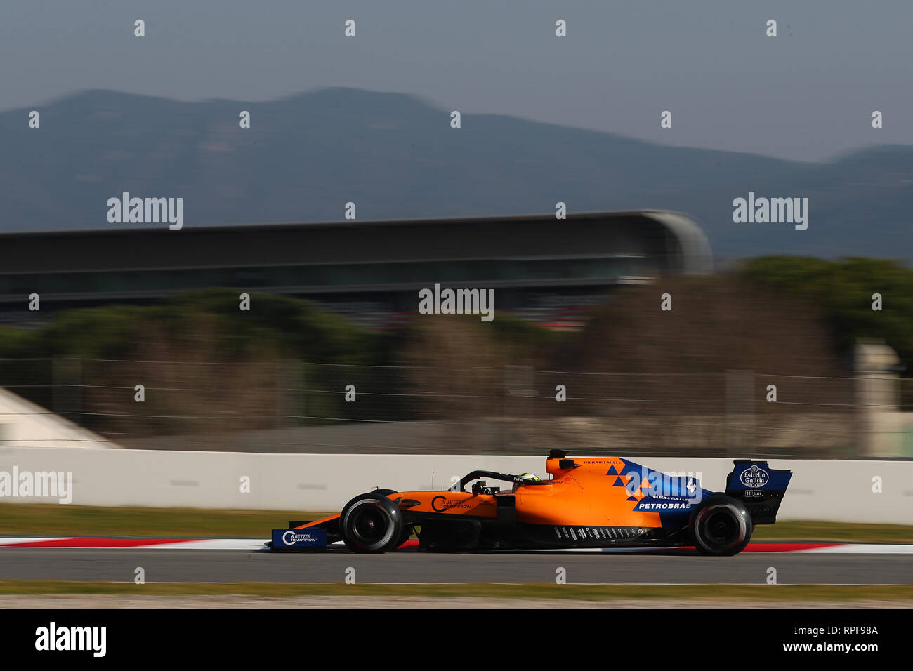 montmelo, spain. 21st feb, 2019. lando norris of great britain