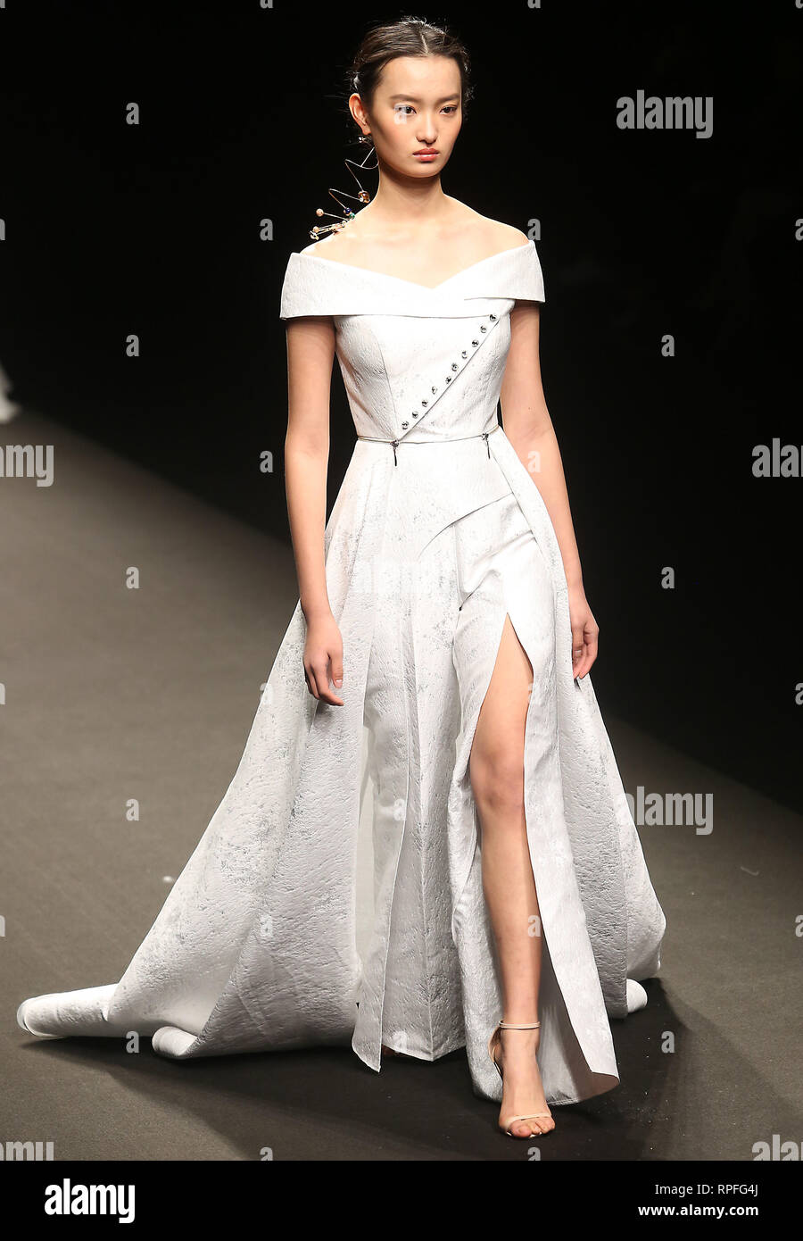 October 30 2018 Beijing China Models Wear The Latest Designs From Joooys By Zhao Yakum During