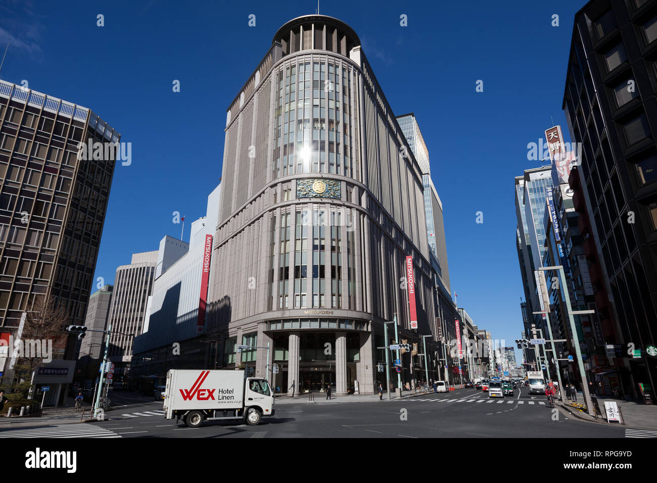 The famous Mitsukoshi Department Store in Nihonbashi, Tokyo, Japan. Friday, January 10th 2014 - Stock Image
