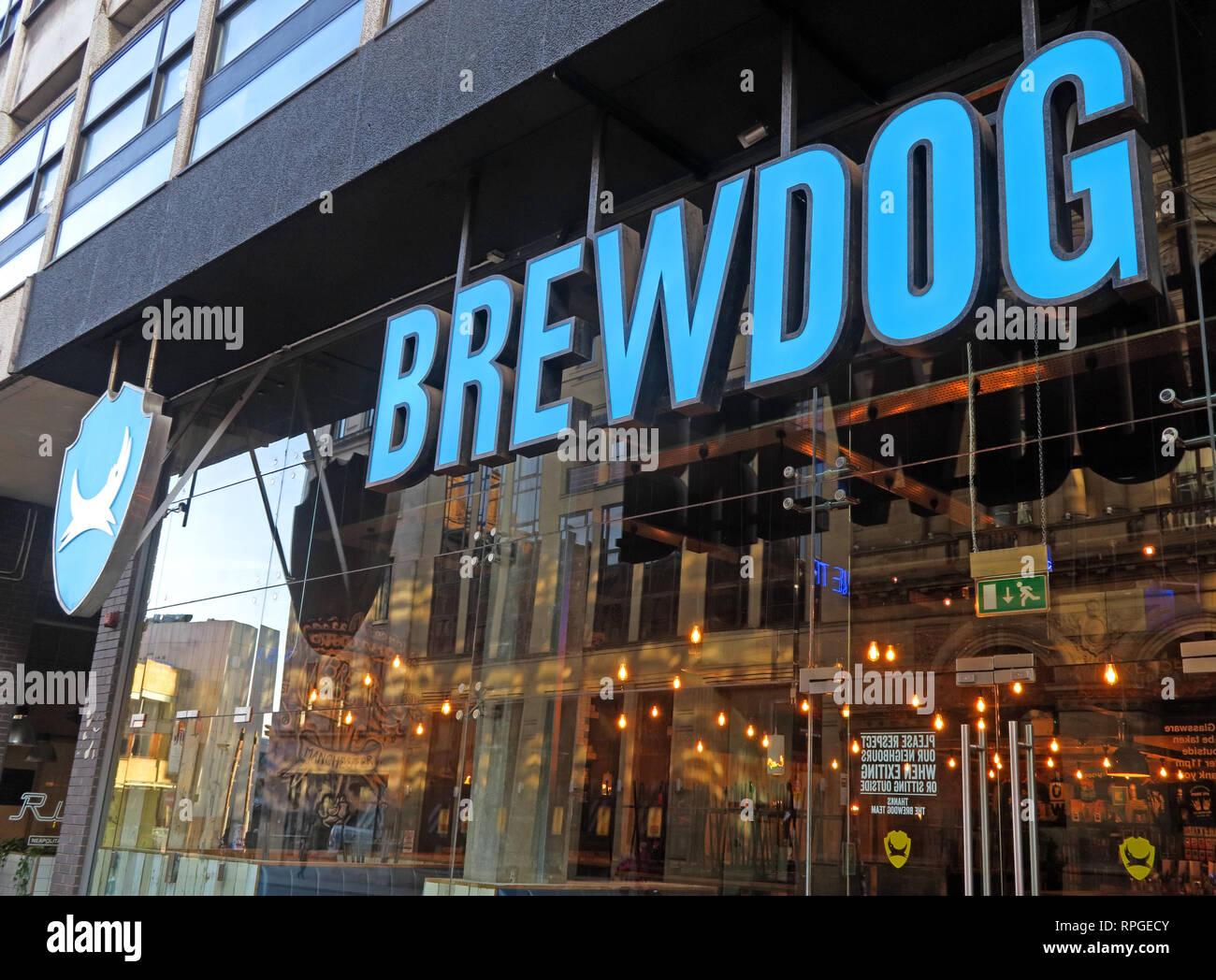 Brewdog Manchester bar, Scottish Mutual House, 35 Peter St, Manchester, England, UK,  M2 5BG - Stock Image