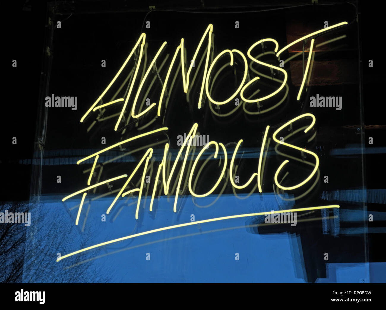 Almost Famous burger chain,restaurant,Great Northern,Manchester, North West England, UK - Stock Image