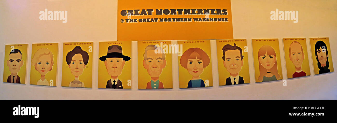 Stanley Chow, Great Northerners @ at the Great Northern Warehouse, famous northern faces, 235 Deansgate, Manchester, North West England, UK, M3 4EN - Stock Image