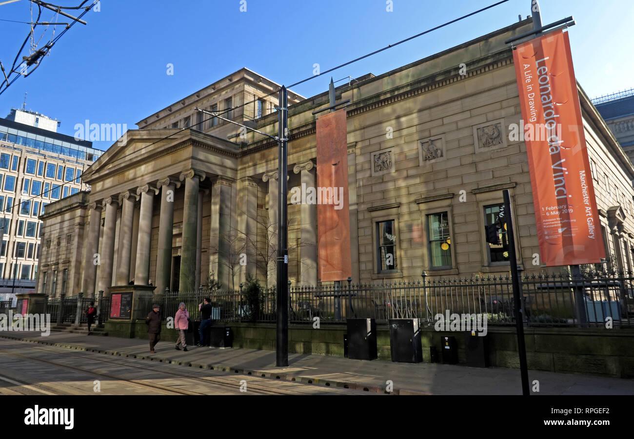 Art Gallery, Mosley Street, Manchester, Lancashire, England, UK, M2 3JL Stock Photo