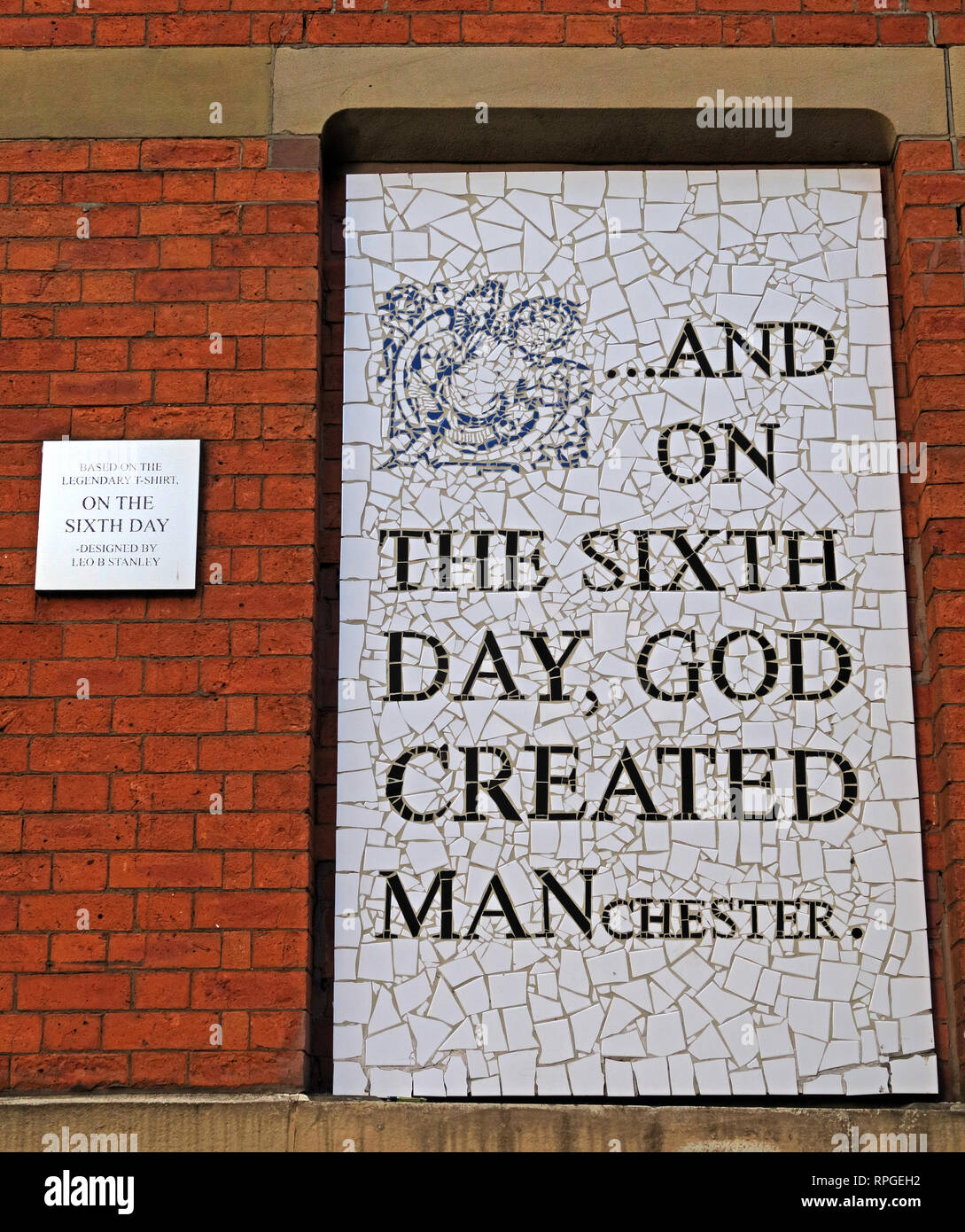 On the sixth day, God Created Manchester, Afflecks palace, Tib St, Manchester, Lancashire, England, UK, M4 1PW - Stock Image