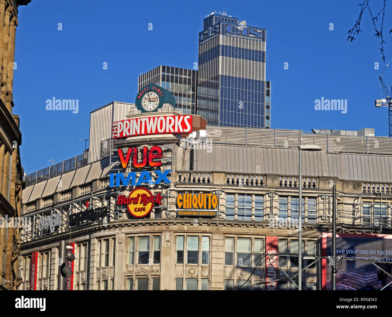 Manchester Printworks Entertainment Venue, 27 Withy Grove, Manchester, England, UK,  M4 2BS - Stock Image