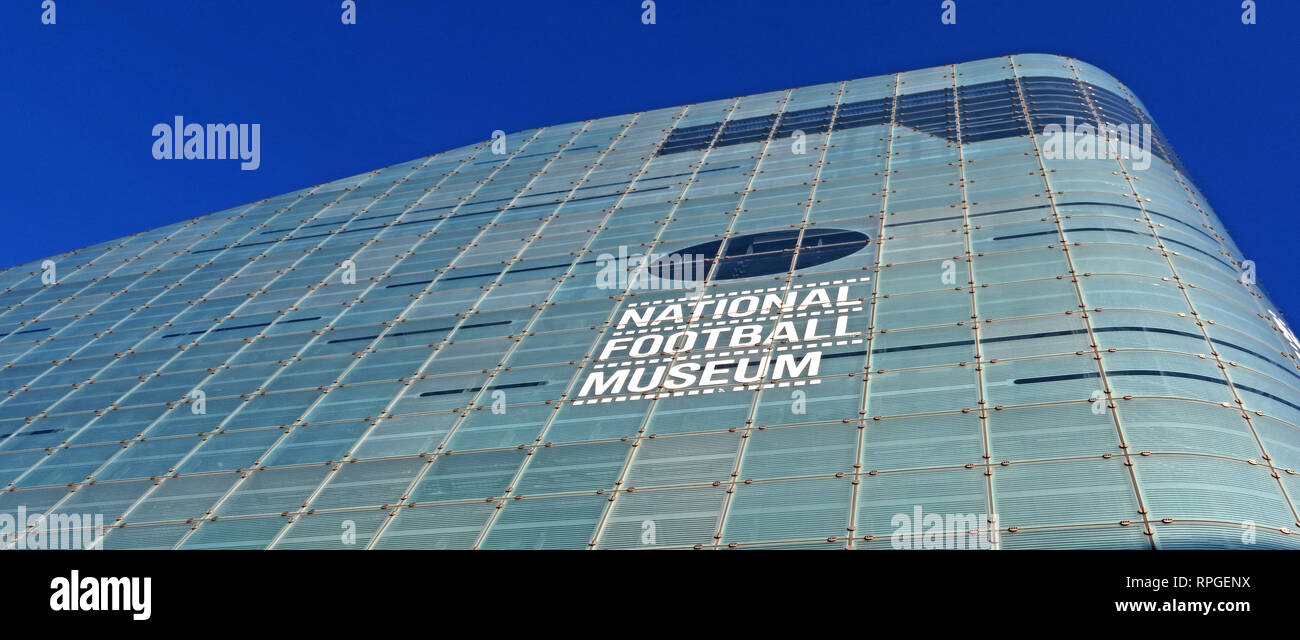 National Football Museum, Urbis Building Cathedral Gardens, Todd St, Manchester, North West England, UK,  M4 3BG - Stock Image