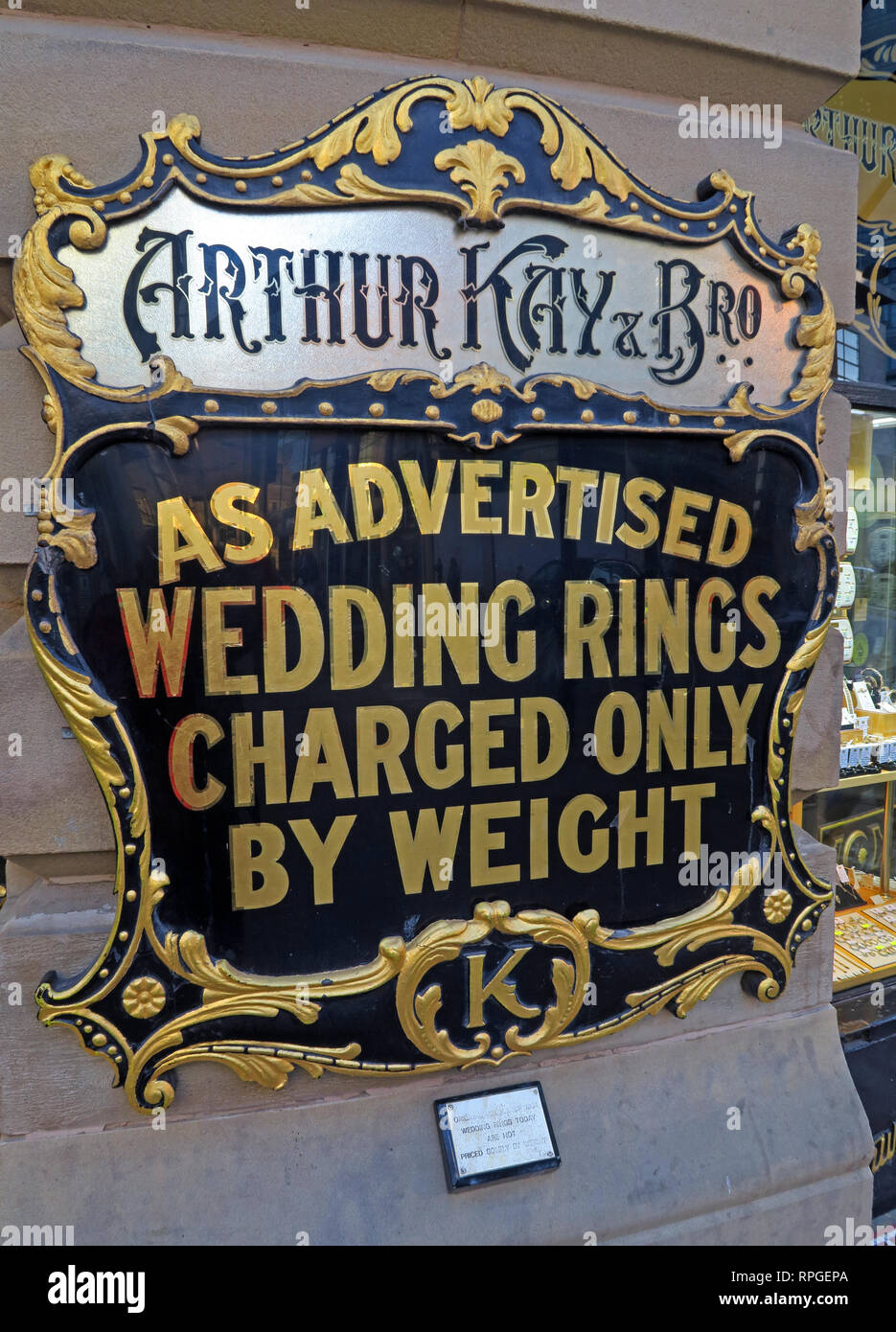 Arthur Kay & Bros, Jewellers Shop, 2 New Market, Manchester, North west england, UK,  M1 1PT - Stock Image