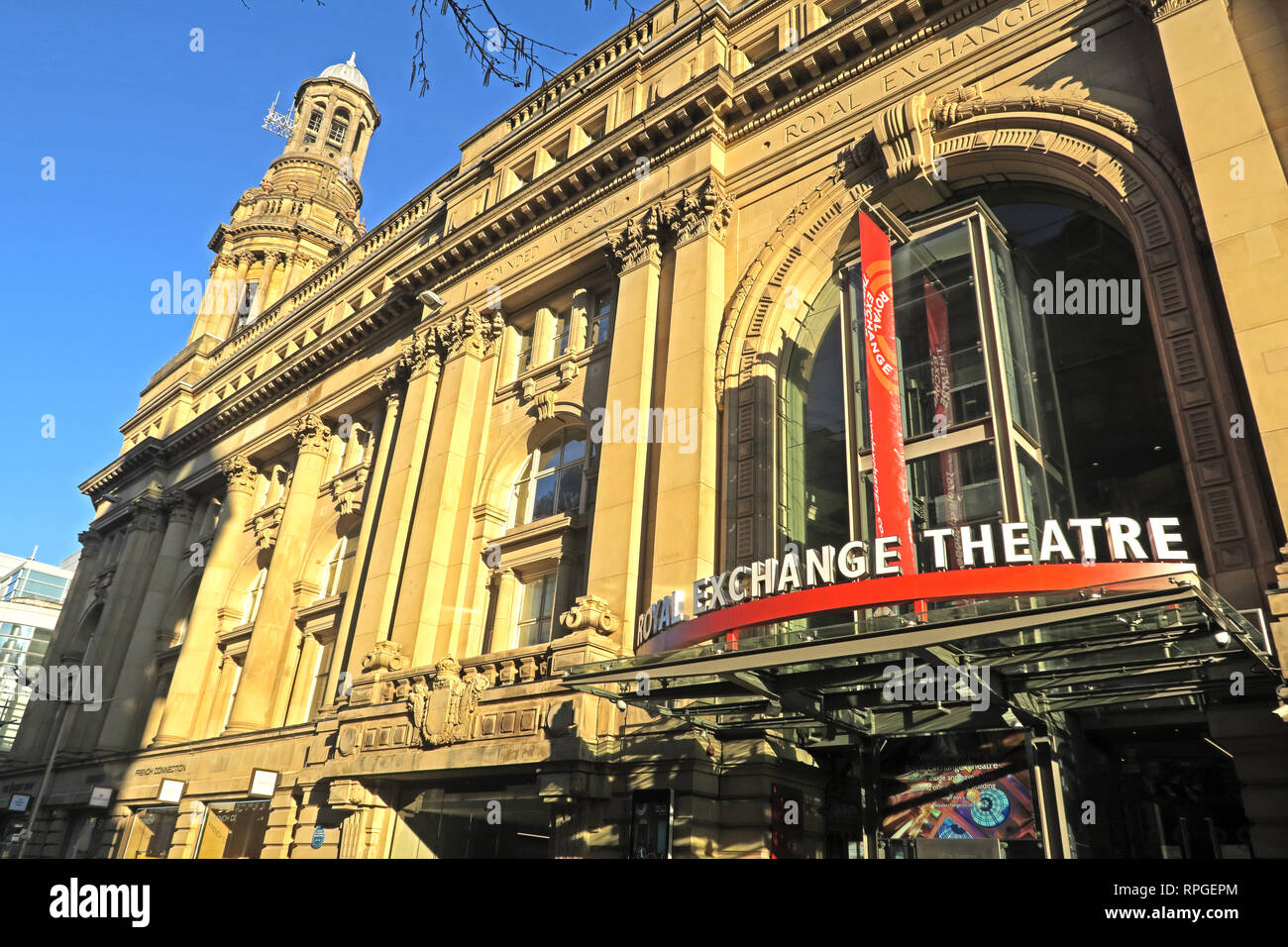 Royal Exchange Theatre, St Anns Square, Manchester City Centre, North West England, UK - Stock Image