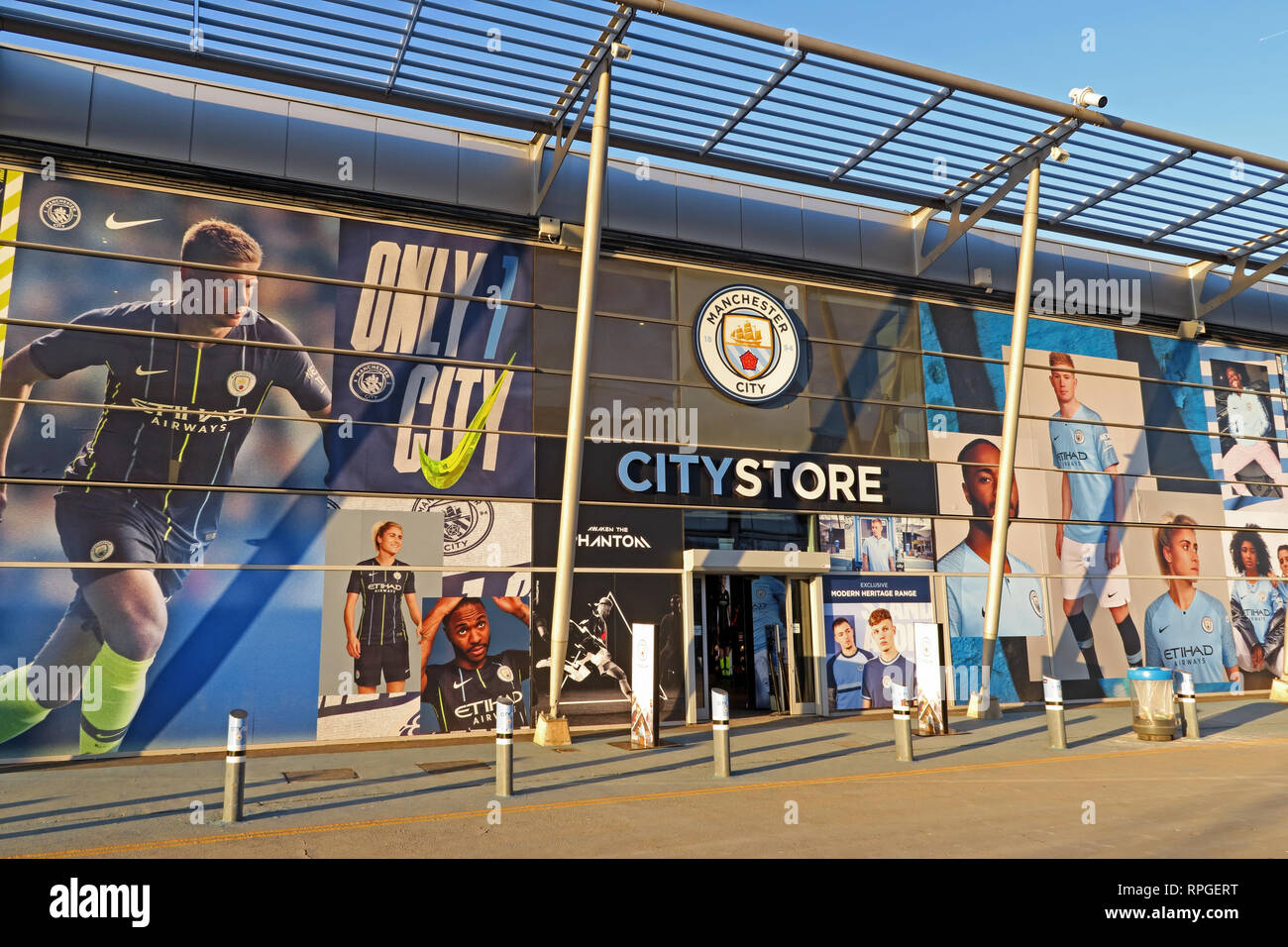 CityStore at The Etihad Campus, Manchester City, MCFC, UK - Stock Image