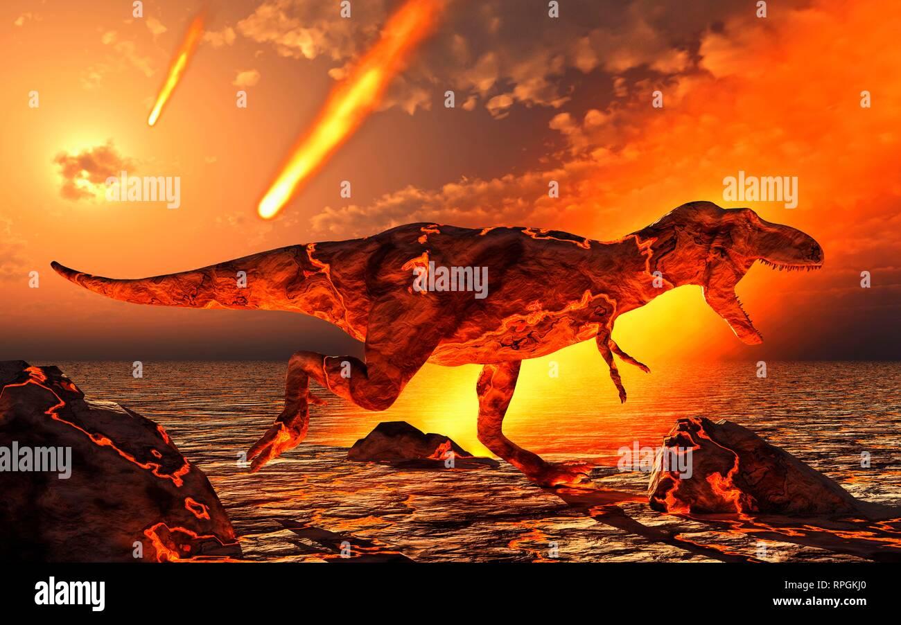 The Paleocene Extinction Event. - Stock Image