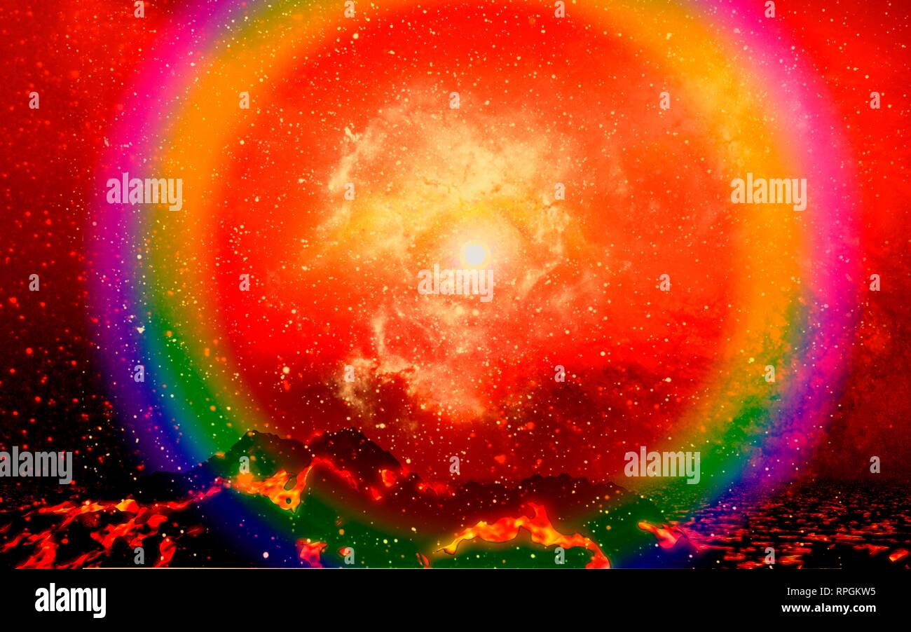 The Death of a Star, Supernova. - Stock Image