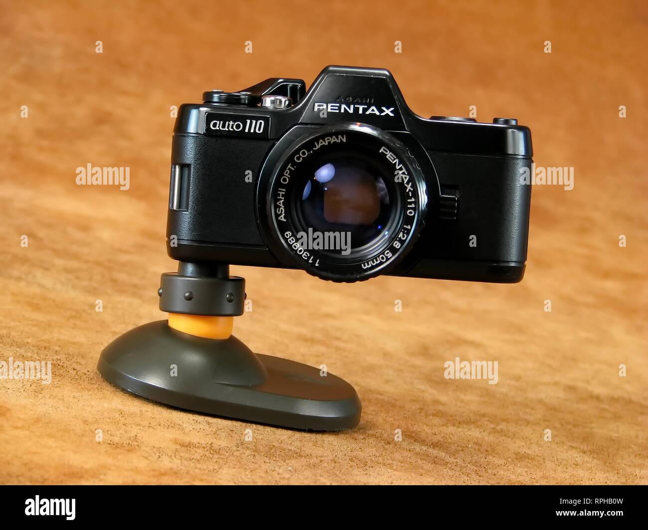 Vintage Collectible Pentax SLR Auto110 Camera. Stock Photo