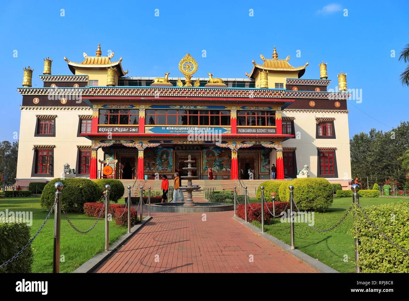 Buddhist Golden temple Bangalore, - Stock Image