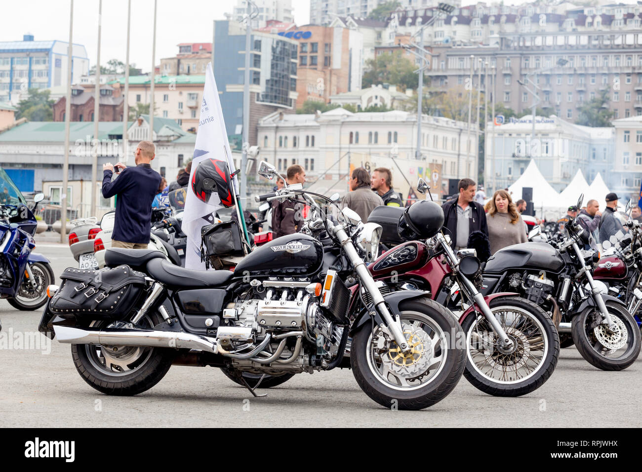 Russia Vladivostok 10 06 2018 Honda Valkyrie Bike Motorcycle On