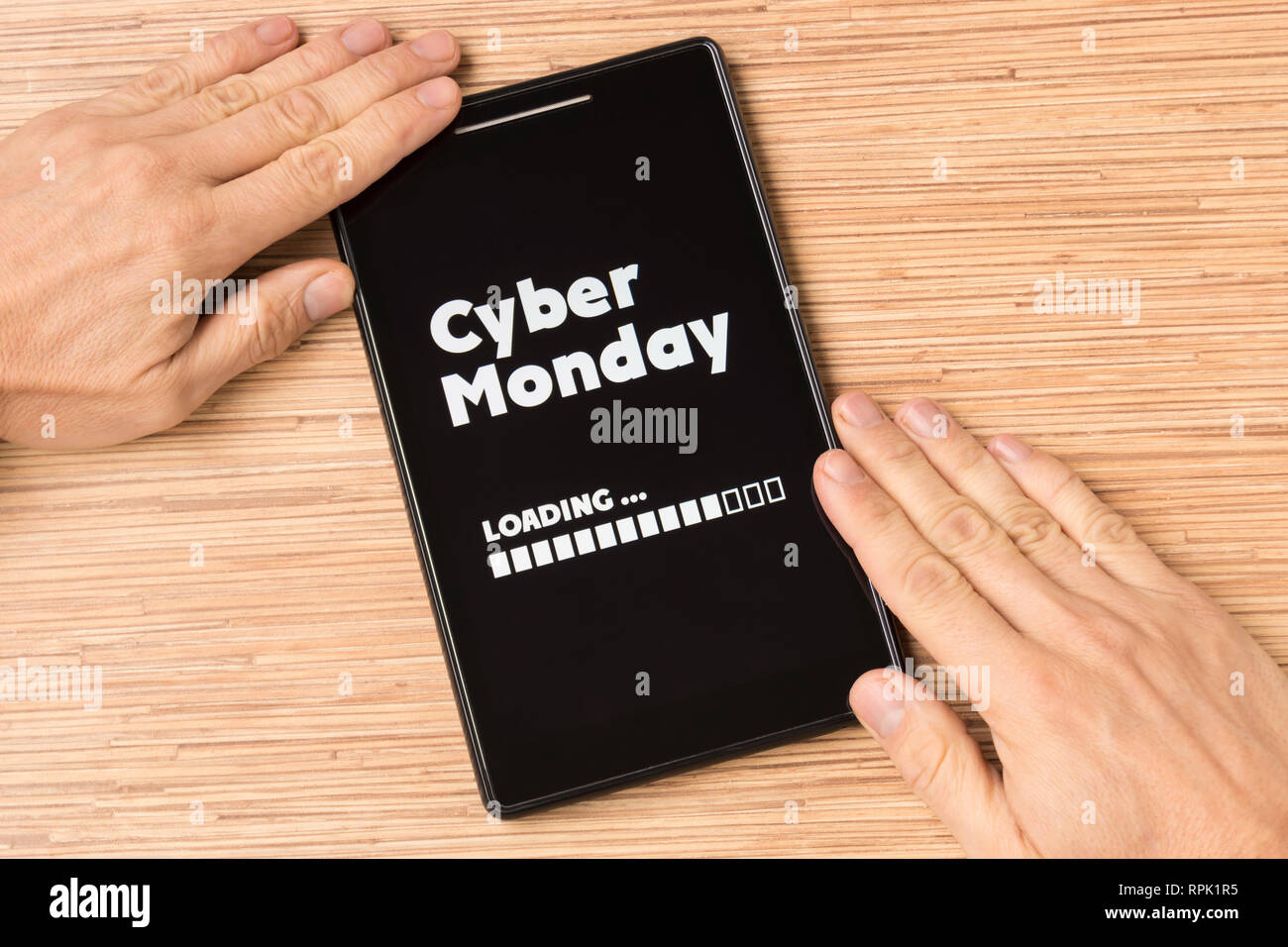Cyber Monday loading - Stock Image