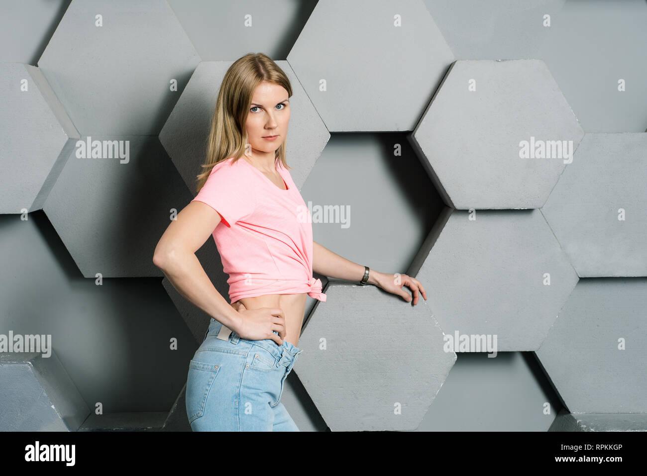 0cb735c647584 Pink Tank Top Stock Photos   Pink Tank Top Stock Images - Alamy