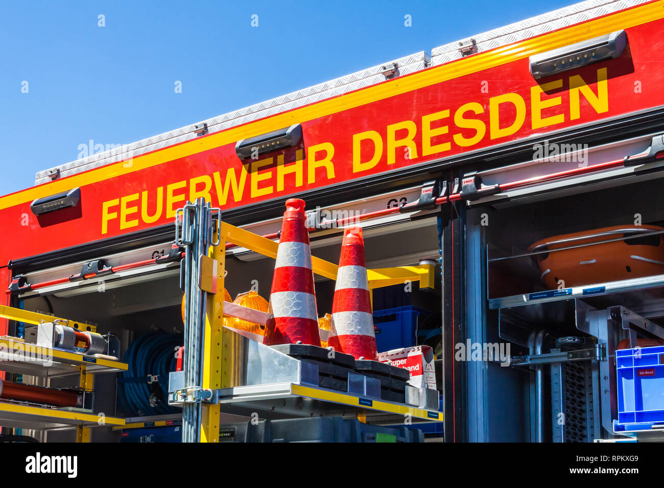 Firetruck from Dresden - Stock Image