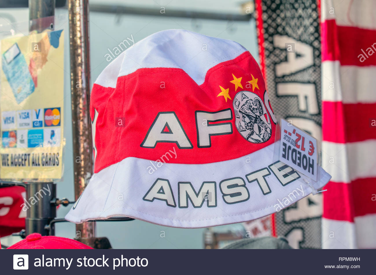 c96ab4f0d7e Merchandising Hat From The AFC Ajax Football Team At Amsterdam The  Netherlands 2019 - Stock Image