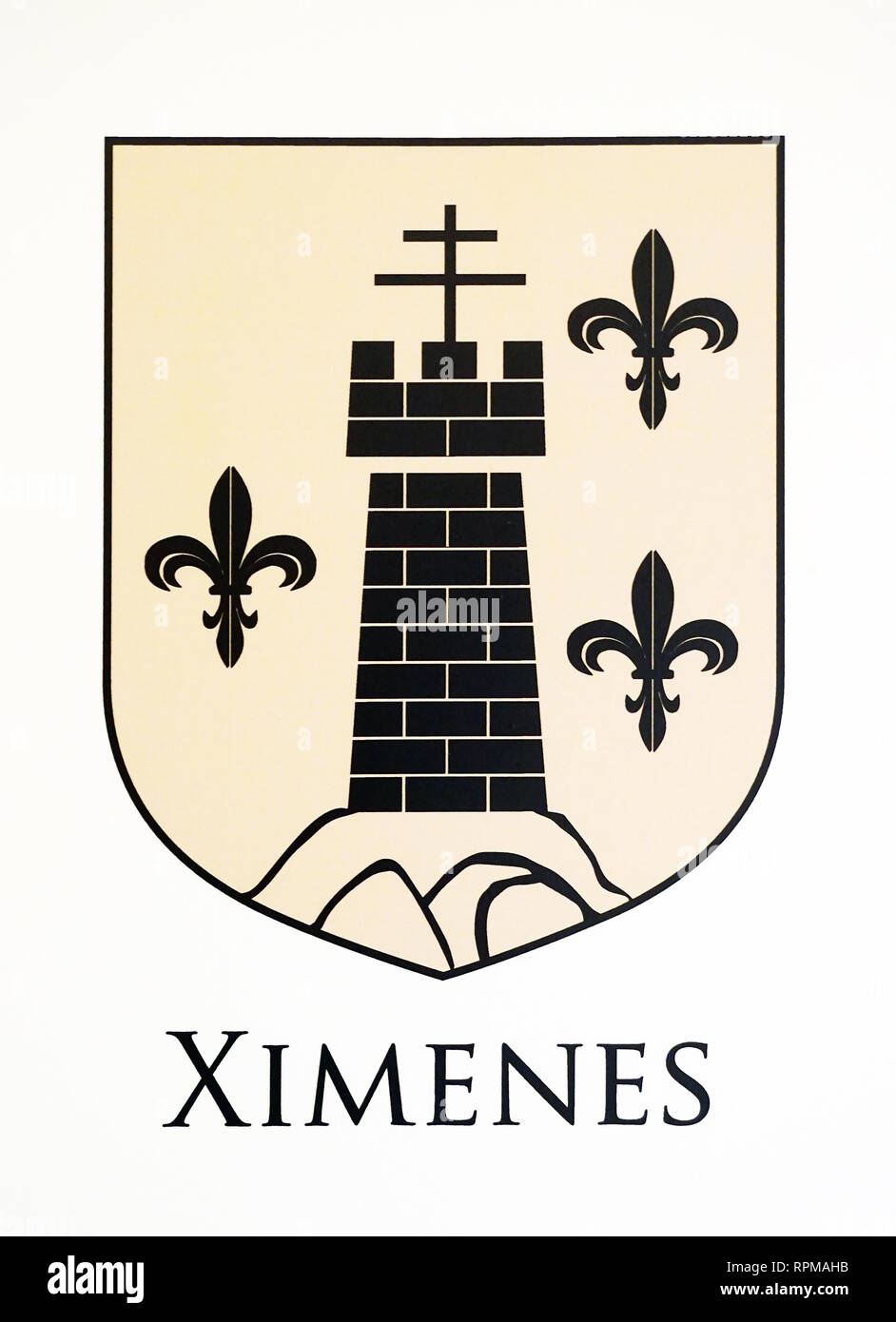 Ximenes Family coat of Arms or ''Important '' people coat of arms or City coat of arms from the city of Alicante.Some go back to the 15th century. - Stock Image