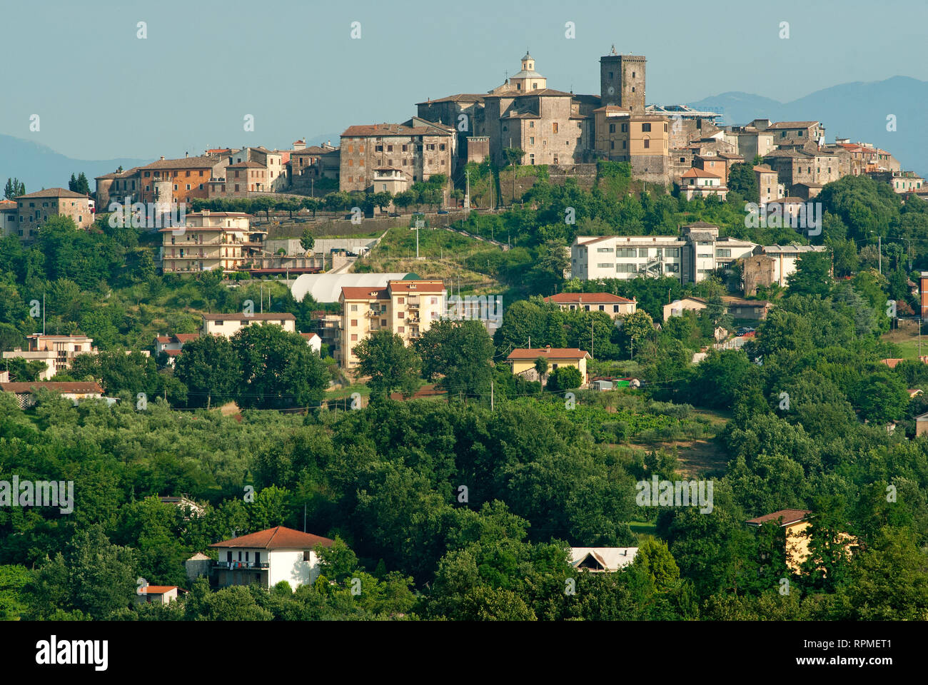 View of Pofi village, Lazio, Italy Stock Photo