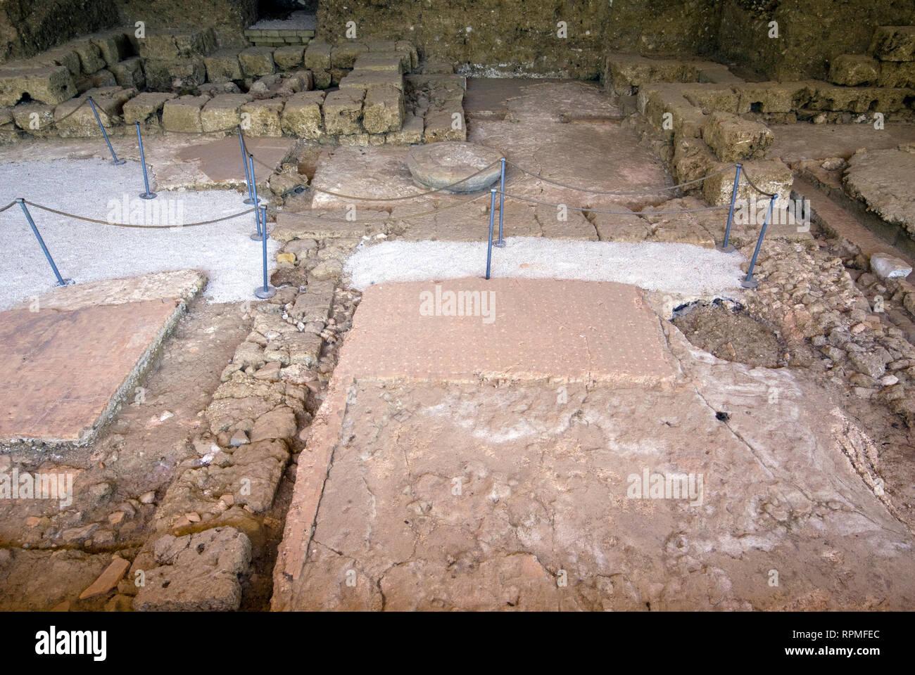 Archaeological park of Fregellae (ancient roman colony), Arce, Lazio, Italy Stock Photo