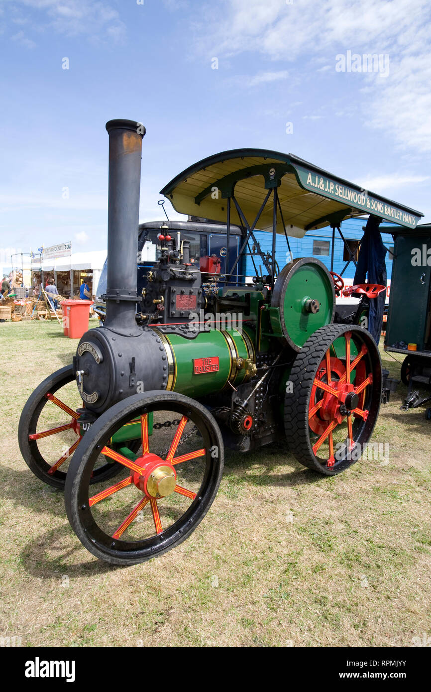 Steam, Traction Engine, Chale Show, Chale, Isle of Wight, England, UK - Stock Image