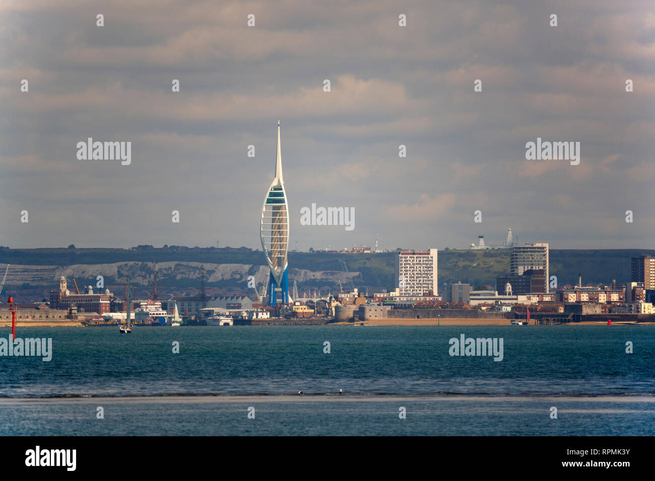 The Solent, Portsmouth, Hampshire, England, UK, - Stock Image