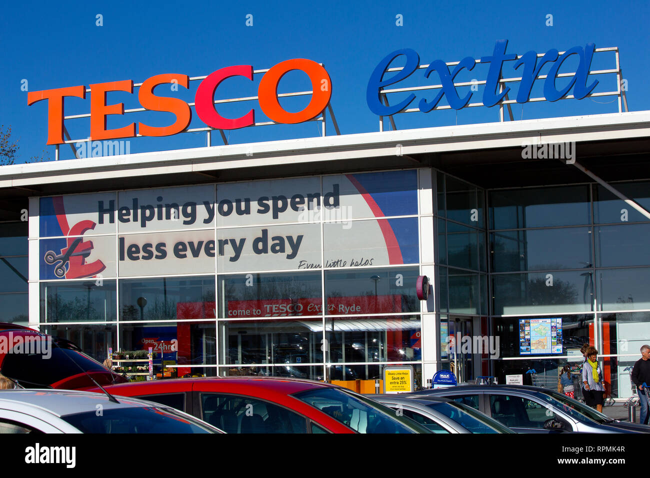 Tesco, Extra, Westridge, Ryde, Isle of Wight, England, UK, - Stock Image