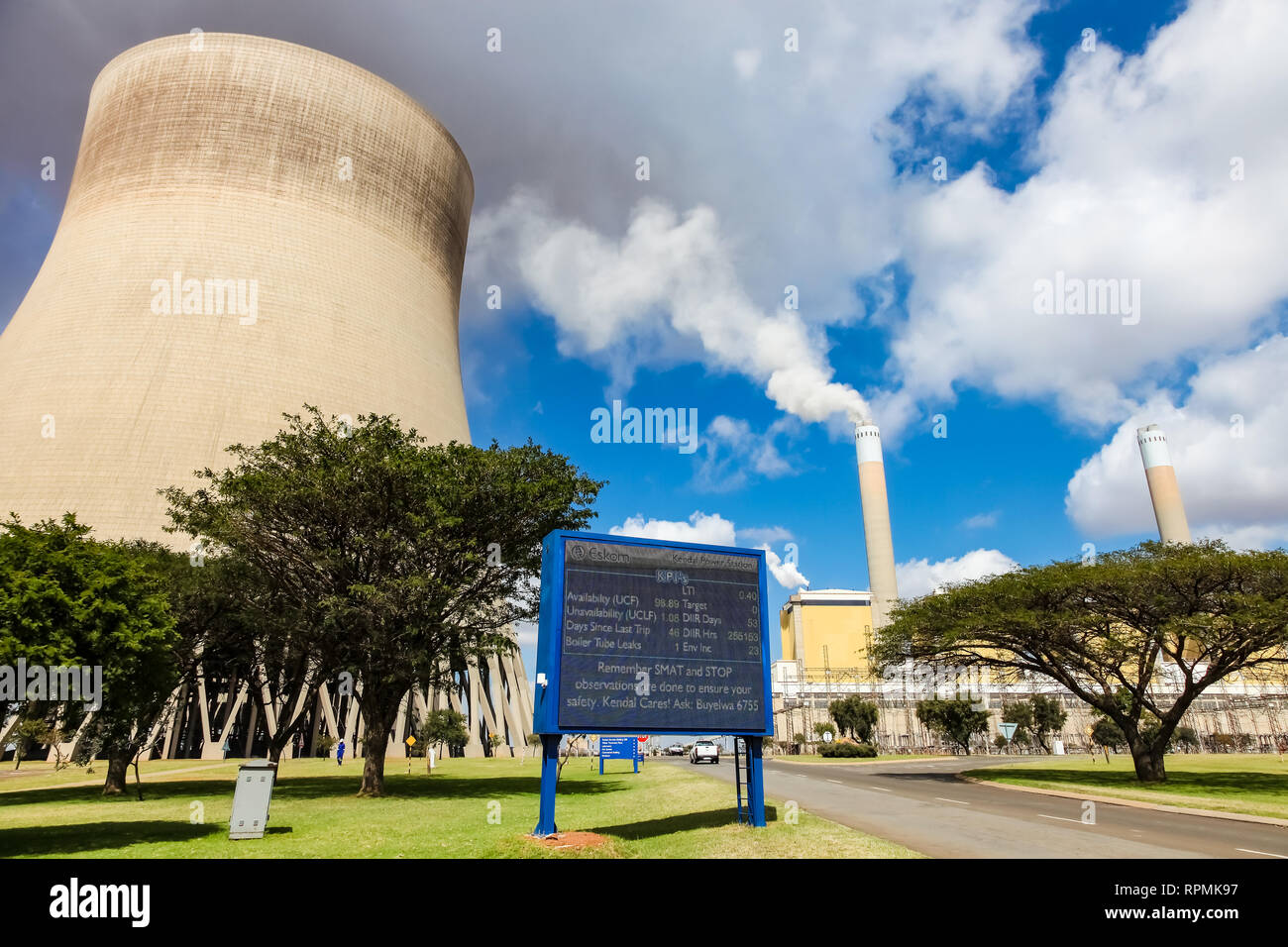 Johannesburg, South Africa - April 12 2012: Outside a Coal Burning Power Station - Stock Image