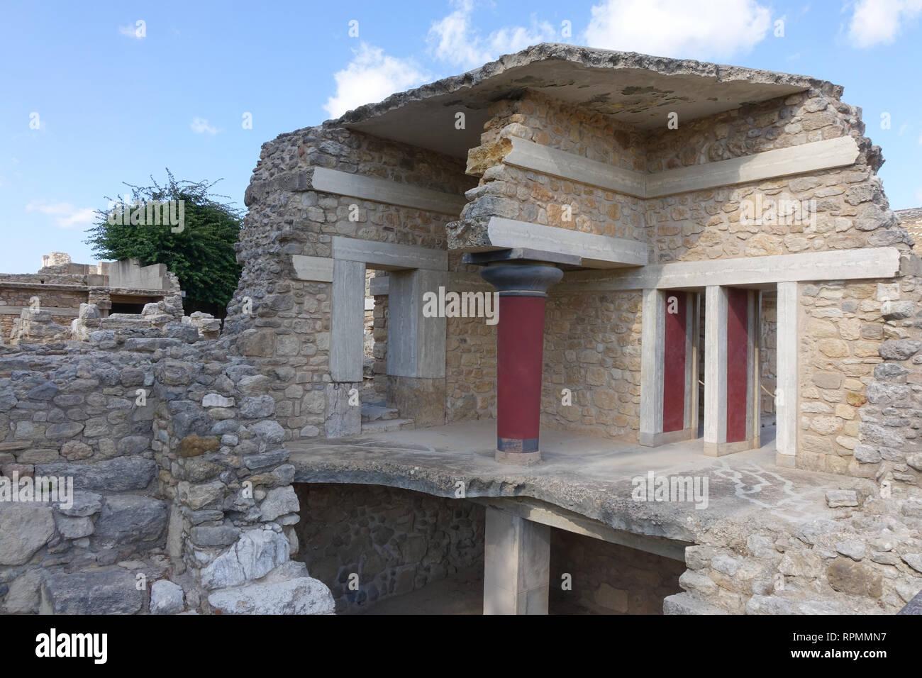 Palace Of Knossos, Crete. - Stock Image