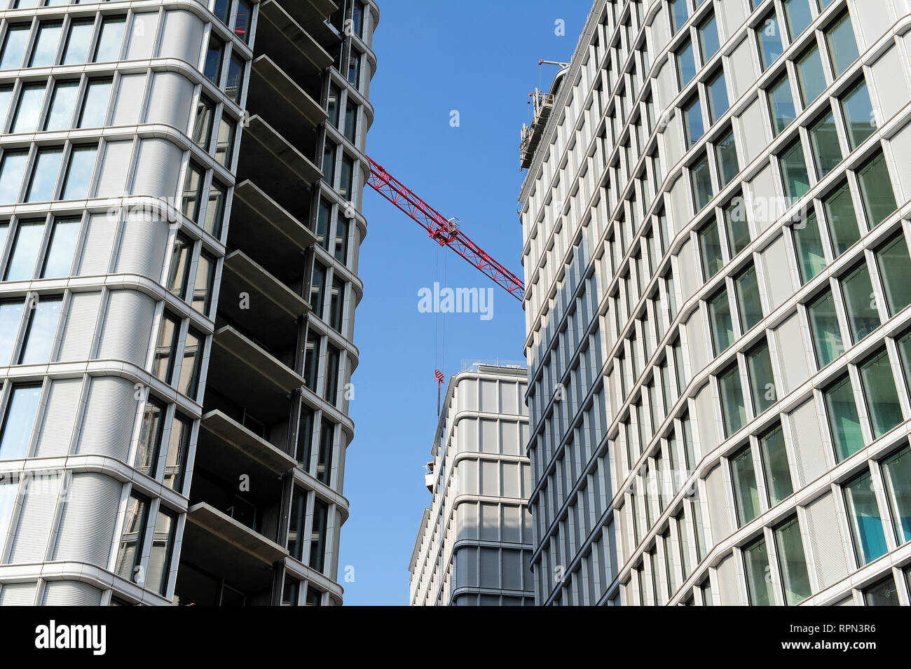 The Park am Belvedere, a hotel and residential complex designed by Italian architect Renzo Piano and currently in the process of being finished - Stock Image