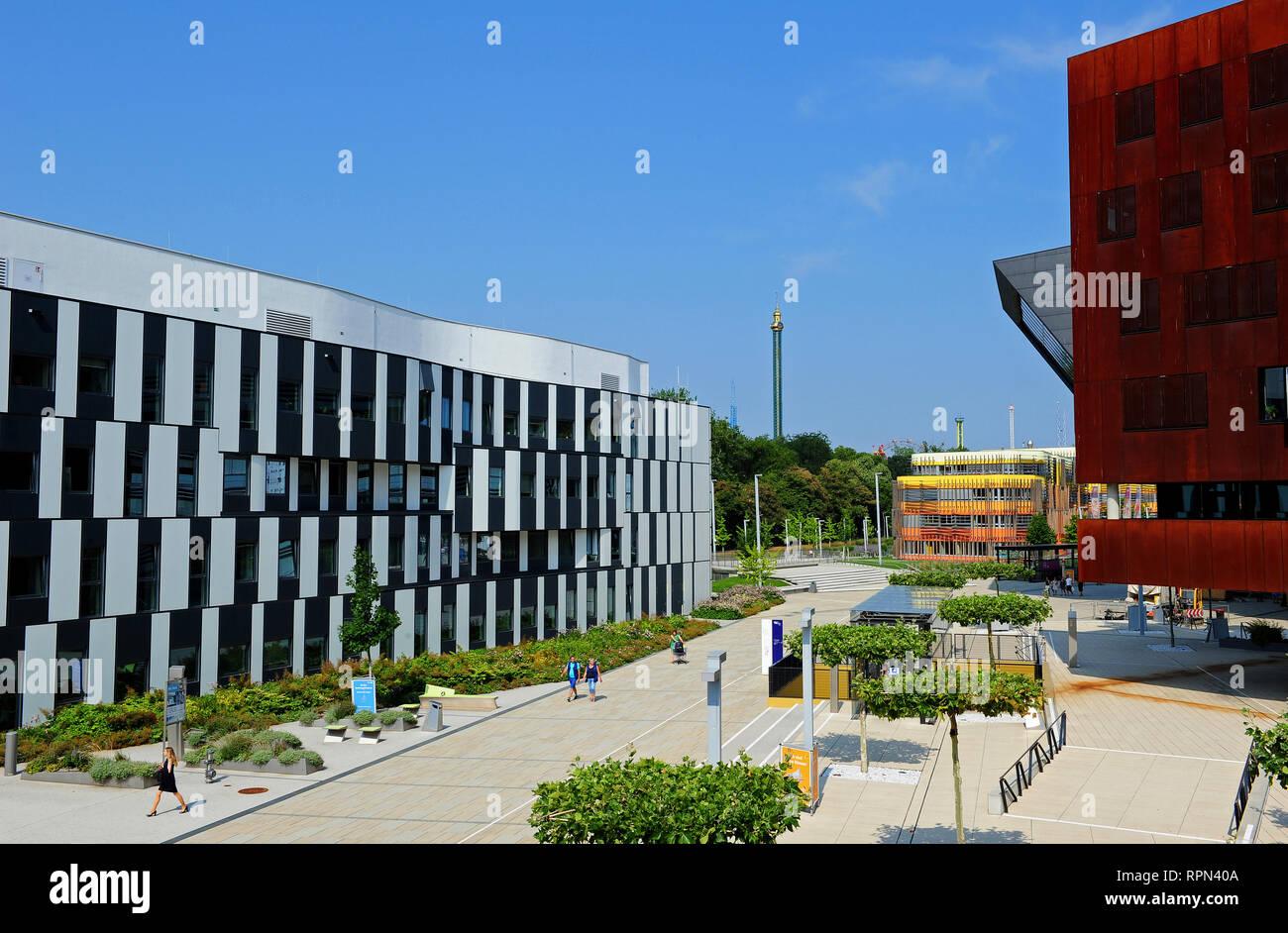 WU campus, University of Economics, Vienna, Austria - Stock Image